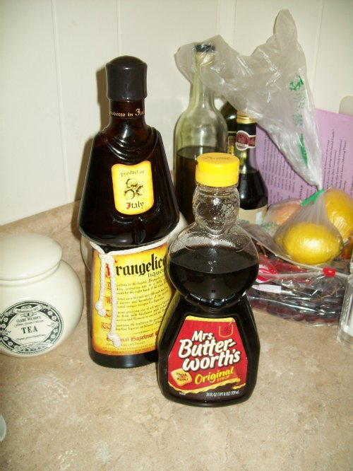 Mrs. Butterworth and Frangelico! Aren't they cute?